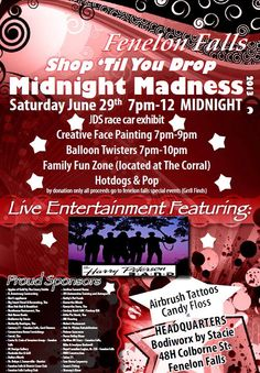 Chamber of Commerce Special Event :  June 29th, 2013 Midnight Madness Poster