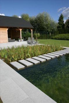 Natural Swimming Ponds, Natural Pond, Koi Pond Design, Garden Design, Modern Backyard, Backyard Landscaping, Water Architecture, Old Stone Houses, Swimming Pool Designs