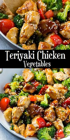 Teriyaki Chicken and Vegetables is an easy and healthy meal that's perfect for a busy weeknight! Homemade teriyaki sauce makes this dish,. Fried Vegetables, Chicken And Vegetables, Chicken Vegetable Stir Fry, Broccoli Recipes, Vegetable Recipes, Chicken Stirfry Recipes, Fried Shrimp Recipes, Quiche Recipes, Chicken Teriyaki Rezept