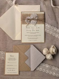 rustic burlap wedding invitationsburlap - Burlap Wedding Invitations