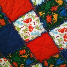 Teagan's dinosaur rag quilt.