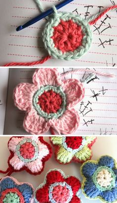 Crochet Tutorial: Flower decoration pattern