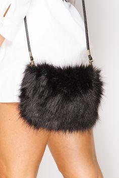 Karmen Black Faux Fur Shoulder Bag Fur Bag 50ae0403c5b82