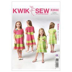 Mccall Pattern K3944 Xxs-Xs-S-M-Kwik Sew Pattern