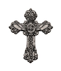 矢量十字架花纹设计