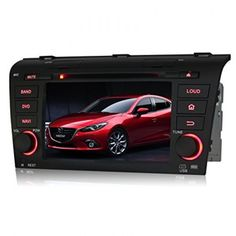 Pumpkin 7 inch HD Touch Screen Car DVD Player Android 4.4 Double Din In Dash GPS Navigation Stereo FM/AM Radio Support Bluetooth/SD/USB/1080P/OBD2/DVR/3G/Wifi For Mazda 3 2004-2009