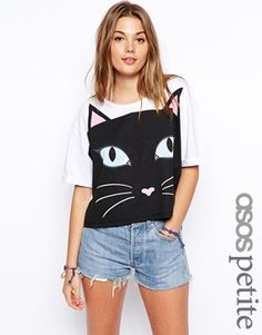 Kitty printed cropped top. - asos