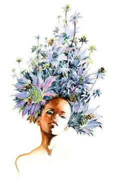 Floral Fashion Portraits by Sunny Gu
