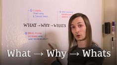 In order to get people on board with your WHY, you want to bring them on with an initial WHAT. http://seanwes.tv/56