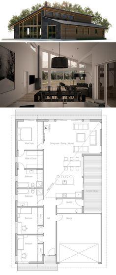 Planta de Casa, Casa Moderna