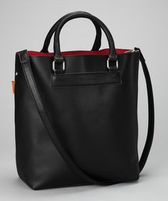 Perfect tote! The turquoise color is beautiful in this as well!Take a look at this Black Classic Tote by David Jones on #zulily today!