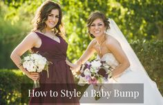 Pregnant Bridesmaids: How to Style a Baby Bump | Kennedy Blue