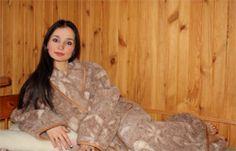 Халат шерстяной c овечьей шерстью Осень | opt-shok.ru