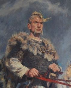 THE RURIK DESCENDANT ~ Grand Duke Svyatoslav (922 or 942-972), the third ruler from Ryurik dynasty. He was a grandson of Ryurik andOlga but unlike his mother he lived and died as a pagan because he needed the support of his army.: