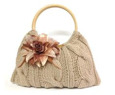knitted+bag+purse+taupe+color+hand+knitted+handbag+by+PinKyJubb,+$55.00