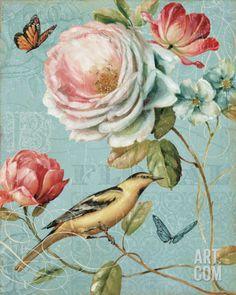 Tangletown Fine Art Spring Romance II By Lisa Audit, Gallery Wrap Canvas, Green Framed Wall Art, Framed Art Prints, Canvas Prints, Canvas Artwork, Canvas Poster, Style Rose, Art Encadrée, Ouvrages D'art, Arte Floral