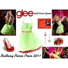 """""""Brittany Pierce (Glee) : Prom 2011"""" by aure26 on Polyvore"""