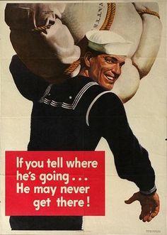 WWII Poster, #World War II, sailor