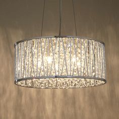 BuyJohn Lewis Emilia Drum Crystal Pendant Light Online at johnlewis.com
