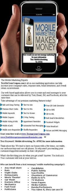 Cellphone Coupons (txtmsgmarketing) on Pinterest