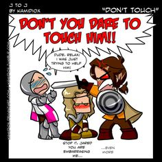 J to J: Don't touch! by KamiDiox.deviantart.com on @deviantART