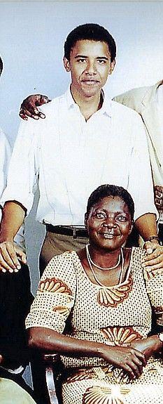Barack Obama Jr with his stepmother Kezia Obama
