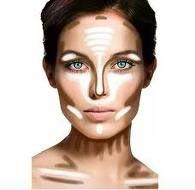 sculpted face diagram