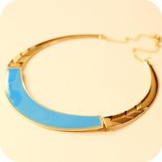 Fashion vintage  glossy oil metal  short design multicolour pendant  necklace
