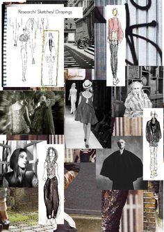Fashion Sketchbook - fashion design development with fashion sketches & research // Charlotta Mattsson