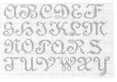 Cross Stitch Mania: grátis Alfabeto transversal do ponto Charts