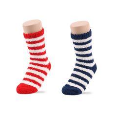 Women's Winter Soft Warm Bed Sleep Crew Fuzzy Socks of Stripe Pattern #DreamTree #SlipperBedSocks