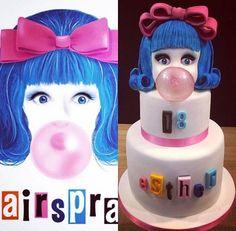 Cake with gelatin bubble