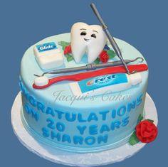 dental hygiene graduation cake | Tooth Cake For Dental School Graduation Creme Cheese Icing Feeds Cake ...