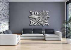 Star This is a limited edition laser cut aluminum decorative panel in a contemporary design. Inspired by the brightest star, this panel adds a bold feature. This forms an excellent focal point of any room. It can be installed tight to a wall or offset as desired to create a floating