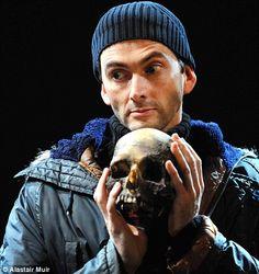 "david tennant in ""hamlet"" c.2008 - royal shakespeare company, stratford-upon-avon, england"