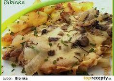 Pečené vepřové kotlety pod houbovo-sýrovou čepicí Potato Salad, Mashed Potatoes, Meat, Chicken, Ethnic Recipes, Cooking, Whipped Potatoes, Smash Potatoes, Cubs