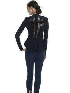 Shop Fish Bones Woven Locomotive Peplum jacket from choies.com .Free shipping Worldwide.   PRICE:$96.99.... SO Unique and Chic!! I love it...xoxo