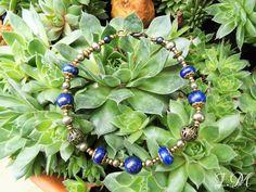 Bracelet en perles de Lapis Lazuli et Pyrite. : Bracelet par imagination-minerale
