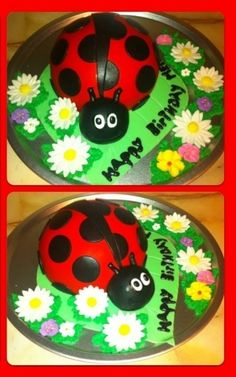 LadyBug Cake By Sweet_Chely on CakeCentral.com
