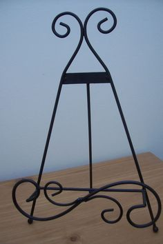 (ad 72) black metal easel book holder picture rack 15  high plate : metal plate holder stand - pezcame.com