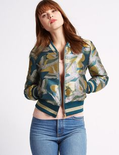 Bird Jacquard Bomber Jacket by Marks and Spencer