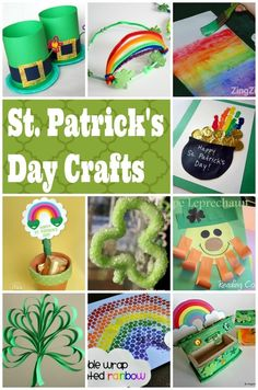 St. Patricks Day Crafts & Activities for Kids - Lots of Leprechauns & Rainbows