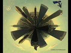 ▶ Tutorial photoshop cs5, mini planeta Tierra. - YouTube