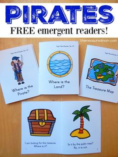 These pirate books for kids are perfect for brand new readers. Download for free!