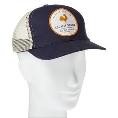Locally Grown Rooster Patch Trucker Hat - Navy