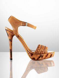 Jenie Calf-Tortoise Sandal - Collection Shoes  Shoes - RalphLauren.com