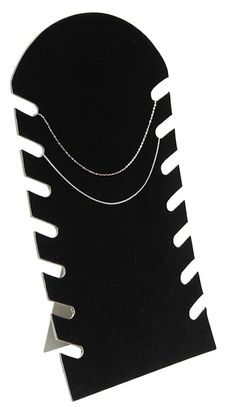 Plastic Bust Cover Padded with Black Velvet, sturdy cardboard easel back can be folded flat for storage Has 7 Slots to hold multiple pieces 7 x 14 Jewelry Display Stands, Necklace Display, Jewelry Stand, Jewelry Roll, Glass Necklace, Jewlery, Jewellery Storage, Jewellery Display, Jewelry Organization
