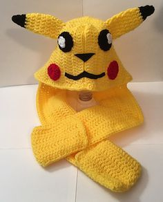 A customer requested a Pikachu Scoodie. I couldn't find a pattern for free or for sale so I made this one.
