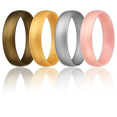 Gay Pride Day Ring for Men and Women Stackable His /& His//Her /& Her Silicone Rubber Wedding Bands 6 Pack