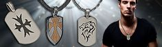 Men's silver dog tags are gaining popularity in this day as more men find wearing dog tags to be very masculine.